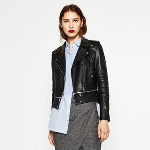 ZARA Faux Leather Jacket - Size M